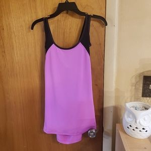 Fila cross back purple and black tank